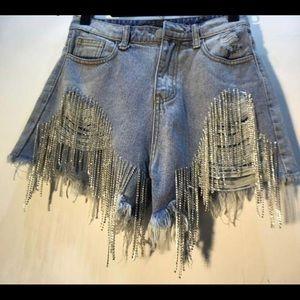 Shorts - DIAMOND FRINGE SHORTS